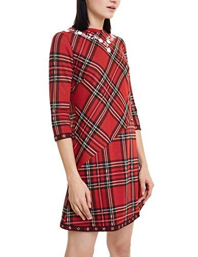 Desigual Dress Christine Vestido, Rojo (Rojo Oscuro 3029), XXL para Mujer
