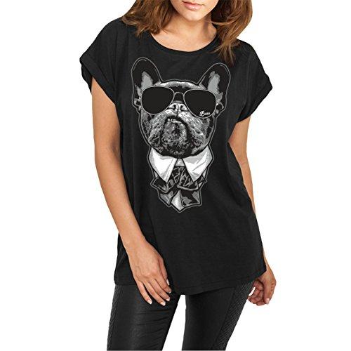 Spaß kostet Frauen und Damen weites Tshirt Französische Bulldogge French Bulldog Chef Größe XS - XL