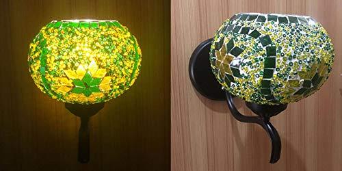 Lámpara turca lámpara AC85-265 V LED CORRIDOR LED aplique de pared con escalera dorada retro