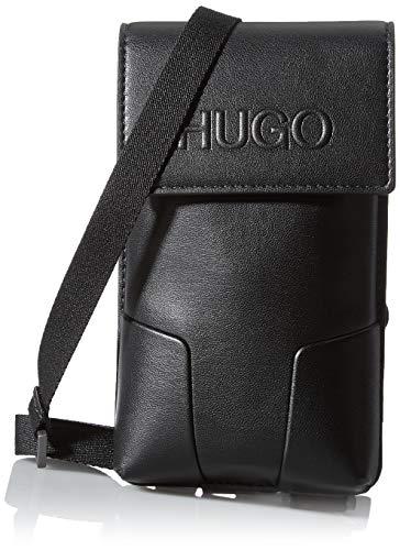 HUGO Rocket MT_Neck Pouch, Bolsillo para el cuello. para Hombre, Negro1, ONESI