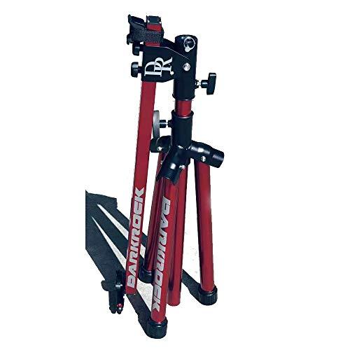 CAISYE Soporte De Montaje Bicicletas MTB, Bicicletas, Aluminio para Reparación con Bandeja Herramientas Magnética, Juego Reparación, Altura Ajustable, Luz