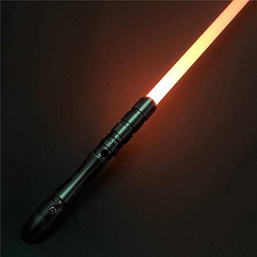 Saber Studio Lightsaber, Metal Aluminum Hilt, RGB LED Rechargeable Light Saber Force FX Heavy Dueling--Metallic Hilt(028-2)