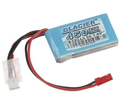 Glacier 25C 450mAh 2S 7.4V LiPo Battery with JST Connector