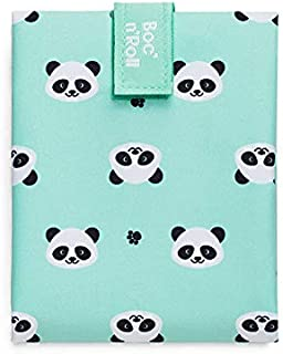 Roll'eat - Boc'n'Roll Animals Panda - Bolsa Merienda Porta Bocadillos Ecológica y Reutilizable sin BPA