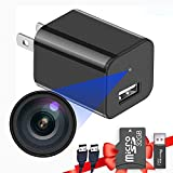 Built-in 32G Micro SD Card Buloge Mini Spy Hidden Cameras,Full HD 1080P Video,Micro Nanny Cam,Tiny Secret Surveillance Camera,Small USB Charger Cameras,Spy Cams Gadgets Equipment for Catch Adultery