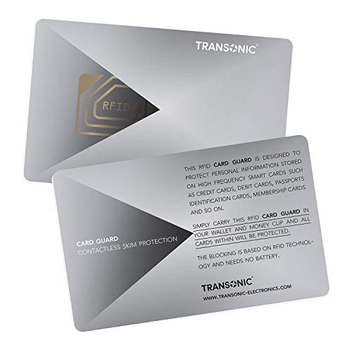 Transonic RFID/NFC Blocking Card   Contactless Cards Protection   1 Card Protects Your Entire Wallet