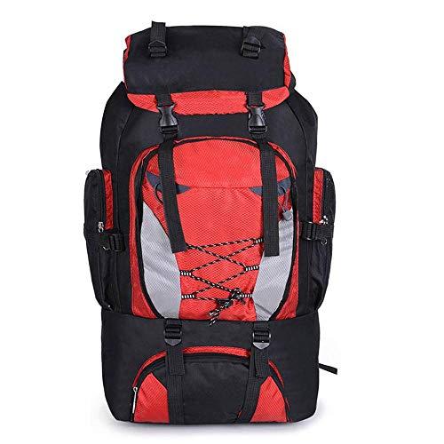 Hiking Backpack Yuan Ou Backpacks 80L Camping Hiking Bag Outdoor Sports Bags Travel Waterproof Shoulder Men Climbing Fishing Rucksack red