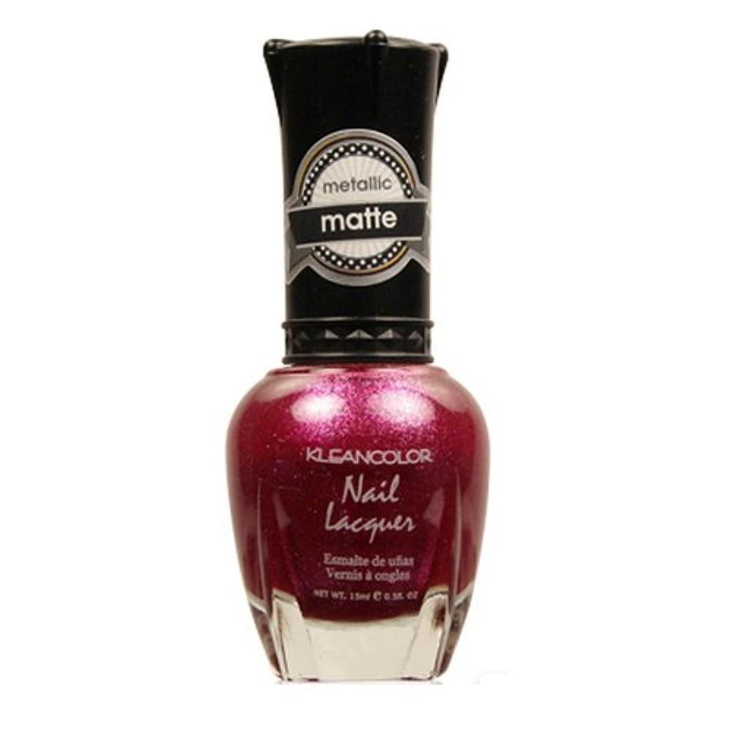 対処炭素チャールズキージング(3 Pack) KLEANCOLOR Matte Nail Lacquer - Cast a Love Spell (並行輸入品)