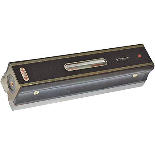 Optimum Maschinen Wasserwaage (Genauigkeit 0,02 mm/m, Längs- und Querlibelle, Wärmeschutzgriff), 3385064