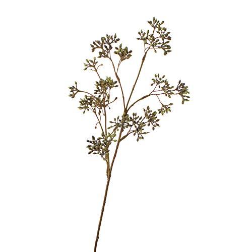 artplants.de Künstlicher Hartriegel Cornus Zweig Anina, grün, 55cm, Ø 15cm - Kunstzweig - Dekozweig Herbst