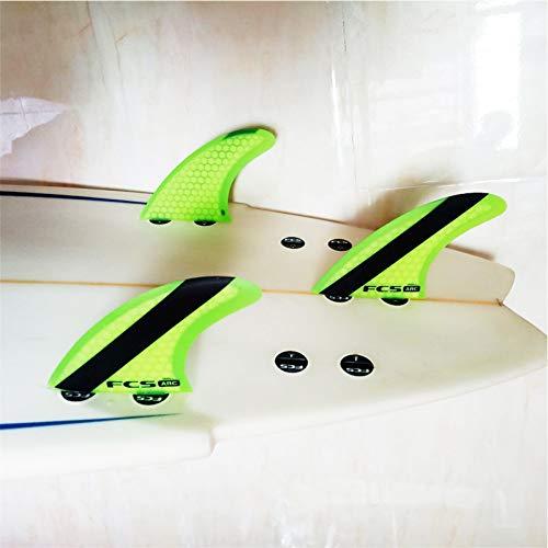 YJDTYM FCS ARC kleines Surfbrett 3 Finnen Set Leistung Core FCS Flossen Surf Surfbrett Wakeboard Surfbrett Finne