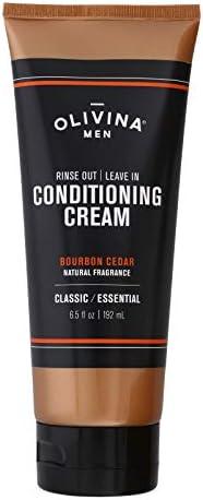 Olivina Men Rinse Out Leave In Conditioner Cream Bourbon Cedar 6 5 Fl Oz product image