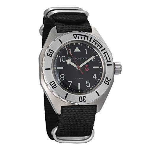 Vostok Komandirskie automático ruso militar reloj de pulsera WR 200m #02-65 caso