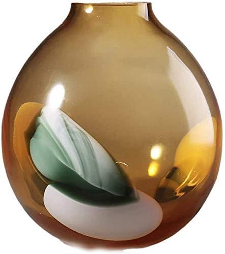 samantha Einzigartiges Handwerk Vase Geschenk Handwerk, Glas Hand Geblasene Ornamente für Blumen Pflanze Wohnkultur Esszimmer Schrank Tisch Herzstück (Size : 28cm(11inch))