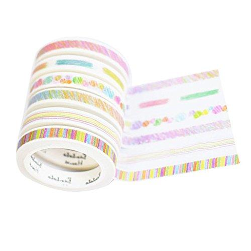 Sgerste mince coloré croquis Papier Washi DIY Déco Scrapbooking Planning de masquage ruban adhésif Photo Autocollant papeterie Fournitures scolaires 7 mmx7 m