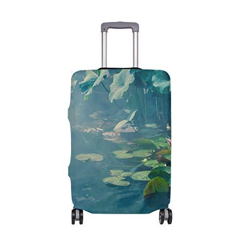 Lupinz Suicase Abdeckung für Gepäck mit Lotus-Teich, Querformat, nur Abdeckung