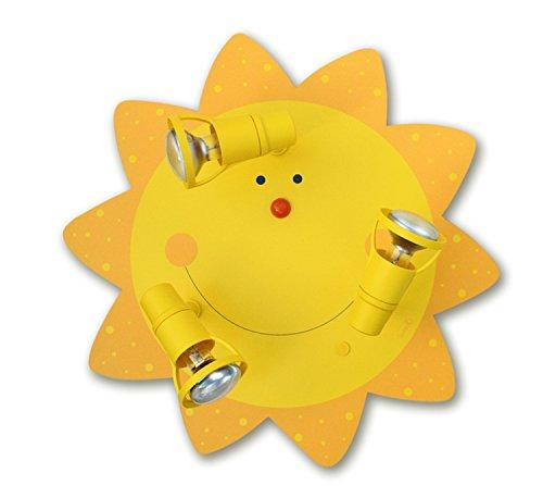 LED Kinderzimmer-Deckenleuchte Sonne 3-flammig für LED Lampe bis 40 Watt