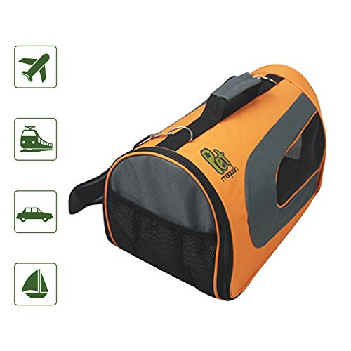 Pet Magasin Soft-Sided Pet Travel Carrier - [Airline TSA Approved] - Portable Traveling Kennel for, Cats, Small Dogs & Puppies (Large, Orange)