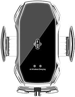 Wireless Chárgérs - حامل لاسلكي للسيارة Universal للهاتف A5S سريع التركيب فتحات تهوية مشبك Chárgér (فضي)