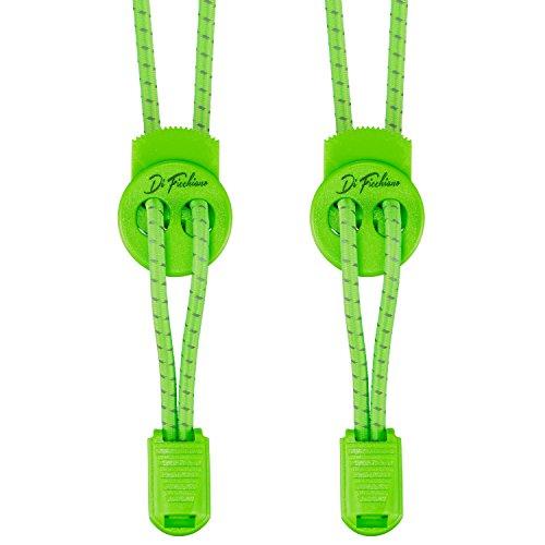 Di Ficchiano DF-Elastic-neon.Green Premium Schnellschnürsystem/elastische Schnürsenkel (1 Paar) für Sneaker, Sport- und Freizeitschuhe