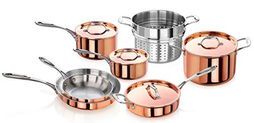 Artaste 56747 Rain Tri-Ply Copper Clad Induction Ready Cookware Set, 11-Piece