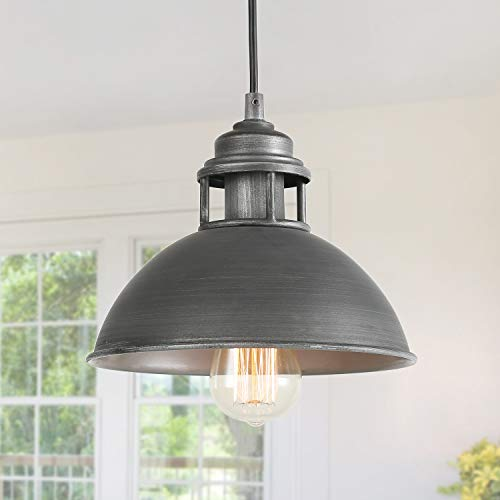 LOG BARN Black Silver Brushed Pendant Lighting Industrial...
