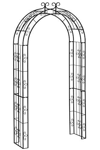 Dehner Rosenbogen Belmont, ca. 238 x 120 x 38 cm, Metall, schwarz