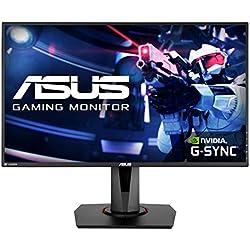 ASUS VG278QR 27'' FHD (1920 x 1080) Esports Gaming Monitor per PC, 0.5 ms, 165 Hz, DP, HDMI, DVI, FreeSync, Compatibile G-Sync, Filtro Luce Blu, Flicker Free, Certificazione TUV