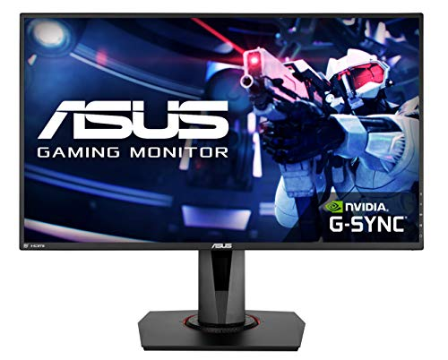 ASUS VG278QR - Monitor de Gaming de 27' (Full-HD 1920x1080, 1ms, hasta 75Hz, HDMI, D-Sub, Super Narrow Bezel, FreeSync, Low Blue Light, Flicker Free) color Negro