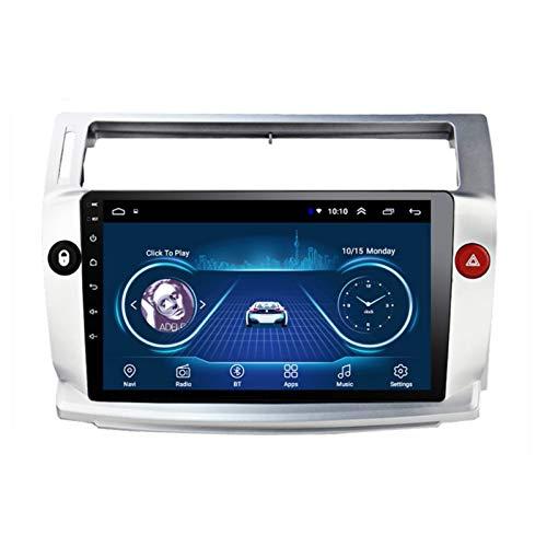 XMZWD IPS 9in NavegacióN GPS Reproductor Multimedia Android 8.1 Radio del Coche DVD del Coche, para Citroen C4 C-Triomphe C-Quatre 2004-2009 Soporte Bluetooth/WiFi/Mirror Link