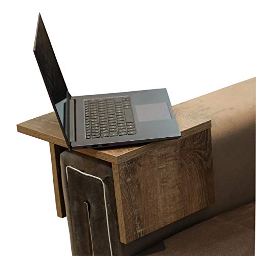 Sofa Arm Tray Table Couch Table Ideal for Remote/Laptop/Drink...