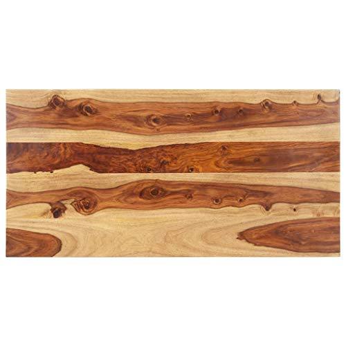 vidaXL Sheesham-Holz Massiv Tischplatte Massivholzplatte Holzplatte Ersatztischplatte Holz Platte für Esstisch Palisander 25-27mm 60x140cm