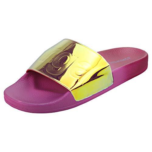 Superga Sandalen 1908-PUMETCOLORFULW S00FS40 939 Magenta Multicolor, Schuhgröße:37