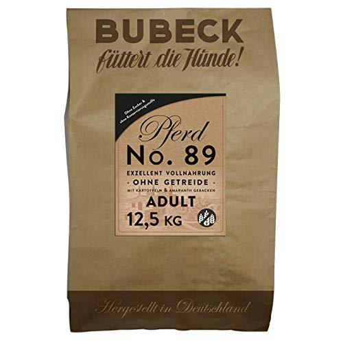 seit 1893 Bubeck Trockenfutter für Hunde | mit Pferd & Kartoffel | Hundefutter getreidefrei | Single Protein 100% Pferdefleisch | 12,5 Kg Hundefutter trocken gebacken
