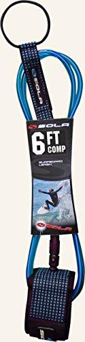 SOLA Comp Surf Laisse Bleu 1,8 m 5 mm