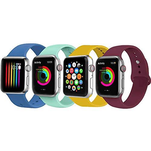 VIKATech Correa de Repuesto Compatible con Apple Watch de 44 mm, 42 mm, 40 mm, 38 mm, Correa de Silicona Suave de Repuesto para iWatch Series 4/3/2/1
