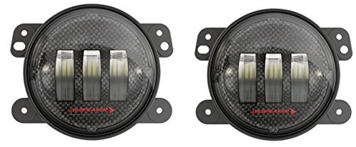 J.W. Speaker 0554413 Model 6145 J2 12V SAE/ECE LED Fog Light with Carbon Fiber Inner Bezel - 2 Light Kit