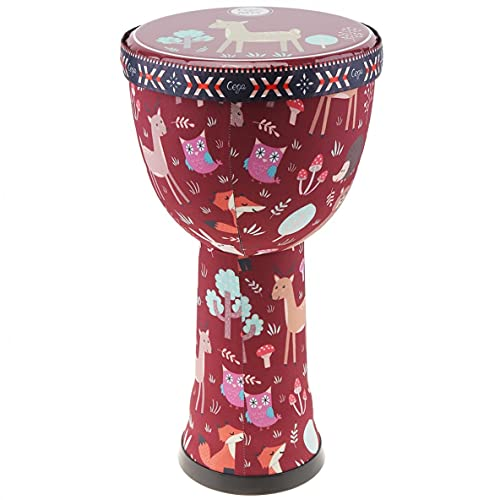 TOPHUHAI 4 Pulgadas / 6 Pulgadas / 8 Pulgadas Profesional Africano Djembe Drum Wood Buena Sonido Instrumento Musical Tradicional