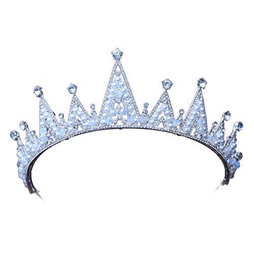 YNYA Tiare Accessori per la Cerimonia Nuziale del Partito di Cerimonia Nuziale della Perla della Fascia della Principessa dei Capelli della Fascia del