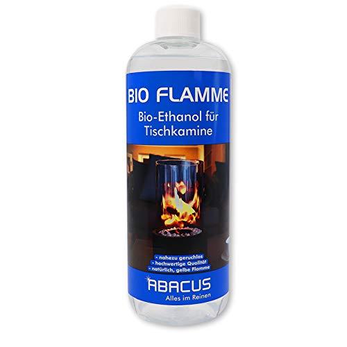 BIO FLAMME 1000 ml (2101) - Bio-Alkohol Brennstoff Alkohol Brennalkohol Brennspiritus Spiritus Lampenbrennstoff Bio-Ethanol für Tischkamine - ABACUS