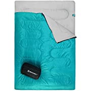 Bessport Lightweight Sleeping Bag, 1-2 Person Camping Sleeping Bag for 3 Season with Compression Sack Fits Kid/Adults Traveling, Backpacking, Hiking, Outdoor Activities (2 Person Royal-Blue)