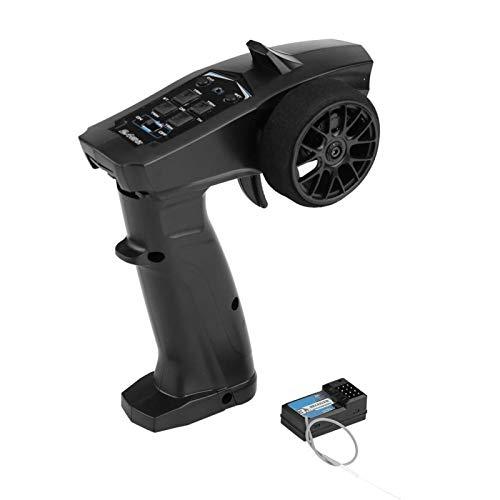 Alomejor 2.4G 91803G-VT Controlador de automóvil Transmisor de Control Remoto de Radio Digital de 4 Canales con Receptor para Control Remoto Barco de automóvil RC