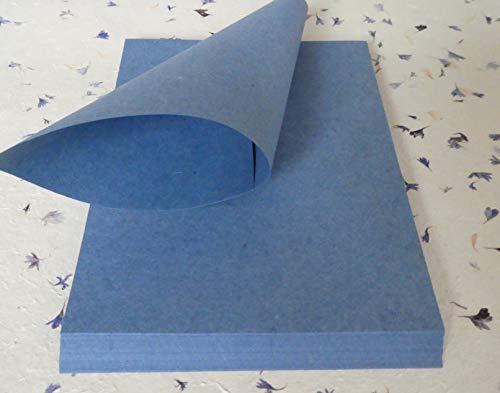 paperfreak: Jeanspapier aus recyceltem Denim handgeschöpftes Büttenpapier A4 40 Bogen geriest Büttenpapier für Handschrift und Drucker