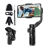 BlitzWolf Gimbal Estabilizador para Móvil, Stabilizer Handy, Estabilizadores de Mano, Gimbal de 3 Ejes con Doble Zoom, Control de Aplicación, Rotación de 360° para iPhone Samsung Huawei