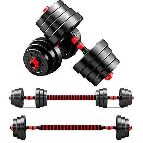 LI MING SHOP Mancuernas Ajustables para Hombres Y Mujeres Disponibles para El Hogar Fitness Barbell Set Desmontable 10/15/20/30 / 40KG(Size:30kg)