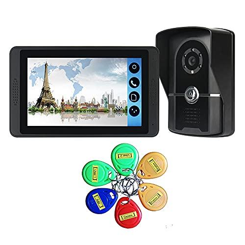 OUYA Timbre De Videoportero, Pantalla De Alta Definición 1024 * 600 Compatible con Conexión Remota WiFi, Desbloqueo Local/Remoto
