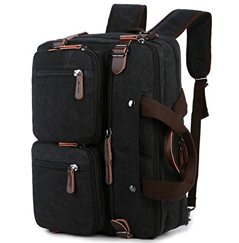 BAOSHA Convertible Aktentasche Rucksack 17 Zoll Laptop Tasche Case Business Aktentasche HB-22