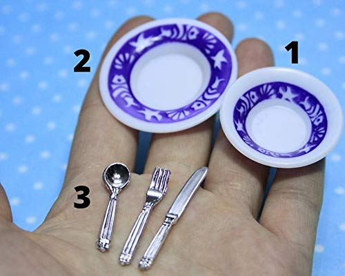 Silicone 3D-molds in the form of dishes of different shapes and sizes (1:12). Molds for polymer clay and plastic.