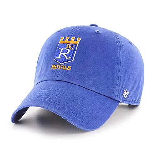 '47 MLB Cooperstown Clean Up verstellbare Mütze für Erwachsene, Unisex-Erwachsene, Kansas City Royals Blue Cooperstown, Einheitsgröße