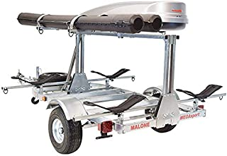 Malone MegaSport LowBed 2-Boat MegaWing Kayak Trailer Package with 2nd Tier